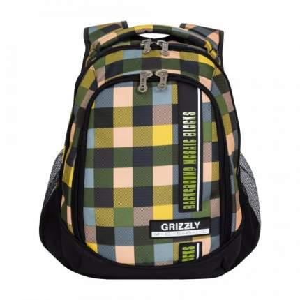 Рюкзак Grizzly RU-925-2 черный/желтый/голубой/бежевый 14,5 л