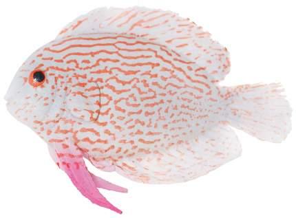 Декорация для аквариума JELLY-FISH Рыба-Диск светящаяся малая, силикон, 9,7х14х2,5 см