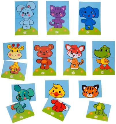 Наклейка декоративная для купания Жирафики Собери картинку: Животные 20 шт.
