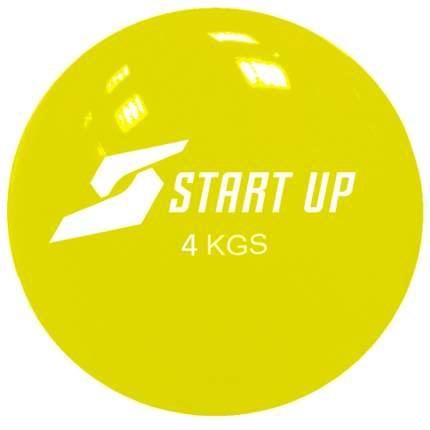 Мяч гимнастический Start Up NT40510, желтый, 17 см