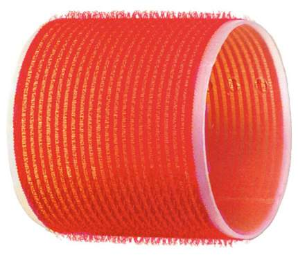 Аксессуар для волос Dewal Бигуди-липучки d=70 мм Красный 6 шт