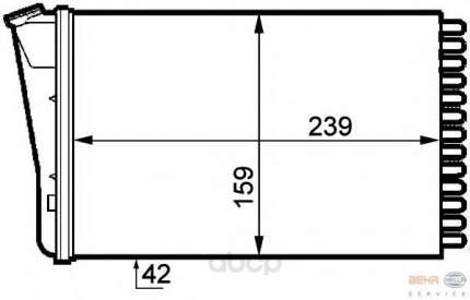 Радиатор отопителя HELLA 8FH351313291
