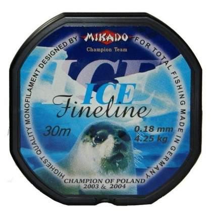 Леска монофильная Mikado FineLine Ice 0,18 мм, 30 м, 4,25 кг
