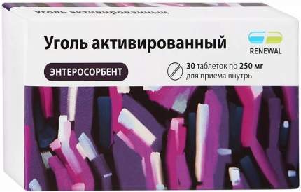 Уголь активированный Реневал таблетки 0,25 г 30 шт.