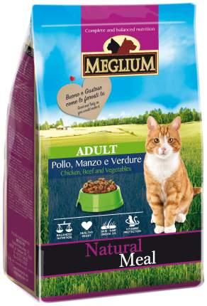 Сухой корм для кошек Meglium Adult, говядина, курица, овощи, 0,4кг
