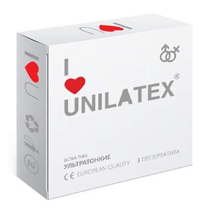 Презервативы Unilatex ультратонкие 3 шт.