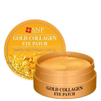Гидрогелевые патчи Snp С золотом и коллагеном Gold Collagen Eye Patch, 60 шт