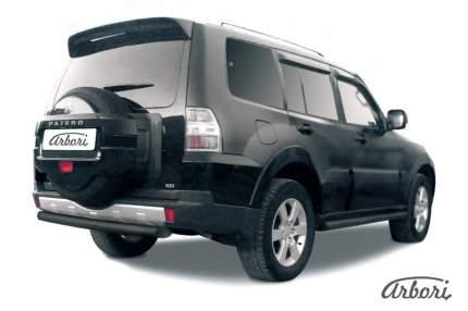 Защита заднего бампера d76 Arbori черный для Mitsubishi PAJERO IV 2014