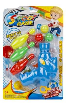 Игровой набор Бластер Наша Игрушка с пластиковыми шарами и кеглями 388-1