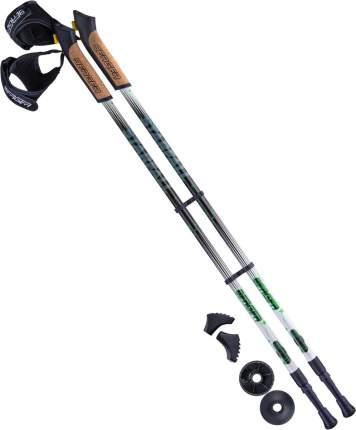 Палки для скандинавской ходьбы Berger Starfall, 77-135 см черный/белый/ярко-зеленый