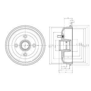 Тормозной барабан DELPHI BF468