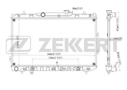 Радиатор охлаждения двигателя ZEKKERT MK-1226