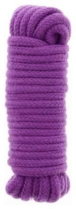 Веревка для шибари Dream Toys Bondx Love Rope хлопковая фиолетовая 5 м