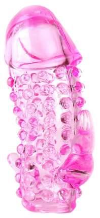 Насадка Sextoy со стимуляторами ануса и клитора розовый