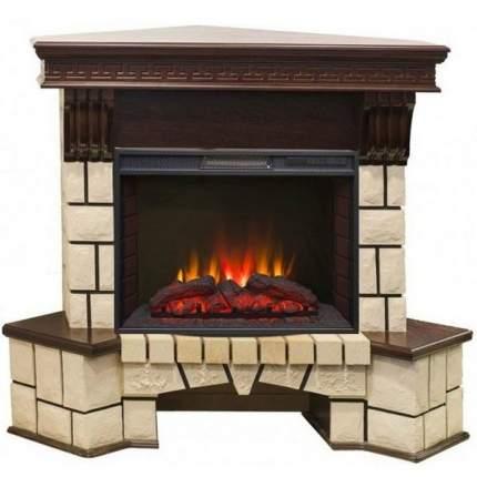 Электрический камин для квартиры Real-Flame Stone Corner new 25 с очагом Sparta 25,5 LED