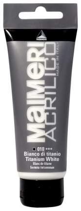 Акриловая краска Maimeri Acrilico M0916018 белила титановые 75 мл