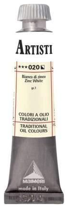 Масляная краска Maimeri Artisti M0102020 белила цинковые 20 мл
