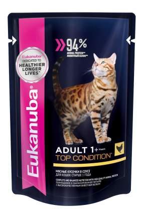 Влажный корм для кошек Eukanuba Adult Cat 1+ Years, курица, 85г