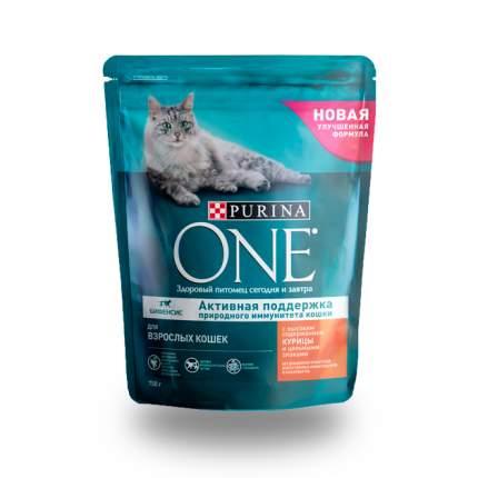 Сухой корм для кошек ONE, курица, 0,75кг