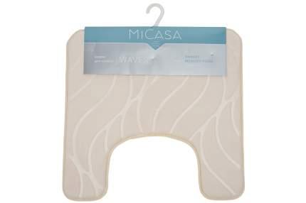 Коврик для туалета 50х50 см MiCasa Waves бежевый