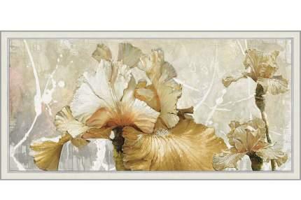 Репродукция в раме 107х57 см Hoff Романтические ирисы
