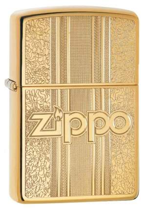 Бензиновая зажигалка Zippo Zippo and Pattern Design High Polish Brass