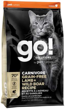 Сухой корм для кошек и котят GO! Carnivore GF Lamb + Wild Boar, 1,36 кг