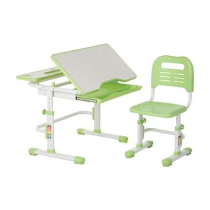 Комплект парта и стул FunDesk Lavoro зеленый, белый,