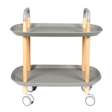 Стол сервировочный на колесиках Trolley, серая