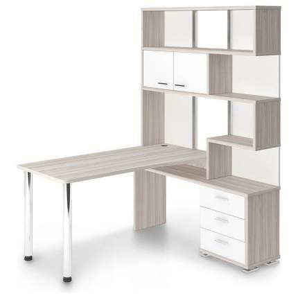 Компьютерный стол Мэрдэс СР-420/150 MER_SR-420-150_KBEK-PRAV, белый жемчуг/карамель