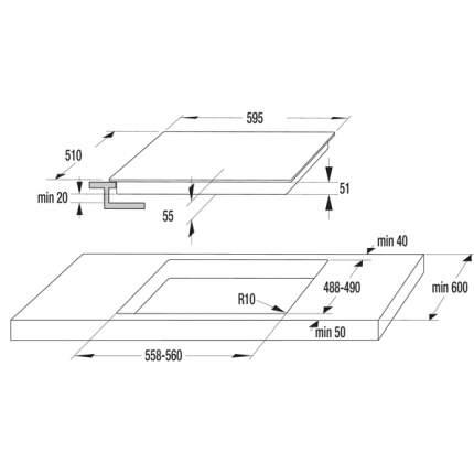 Встраиваемая варочная панель индукционная Gorenje IT61INB Black