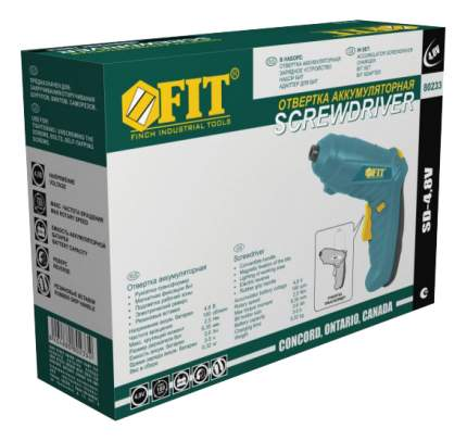 Аккумуляторная отвертка FIT SD-4,8V 80233