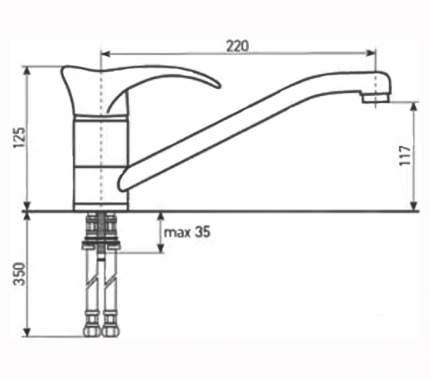 Смеситель для кухонной мойки Zigmund & Shtain ZS 0200 темная скала
