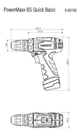 Аккумуляторная дрель-шуруповерт Metabo PowerMaxxBSQuickBasic 10,8В 600156500