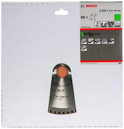 Пильный диск по дереву Bosch STD WO 216x30-60T 2608640433