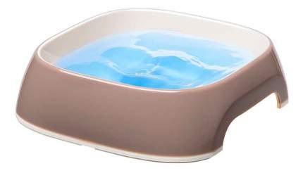 Одинарная миска для кошек и собак Ferplast, пластик, резина, коричневый, 0.2 л