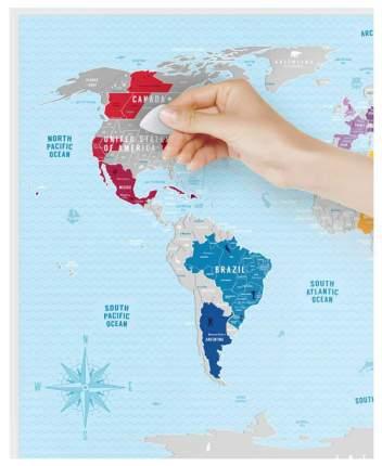 Географическая карта 1DEA.me Travel Map Silver World