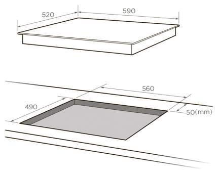 Встраиваемая варочная панель электрическая Midea MCH63557F Black