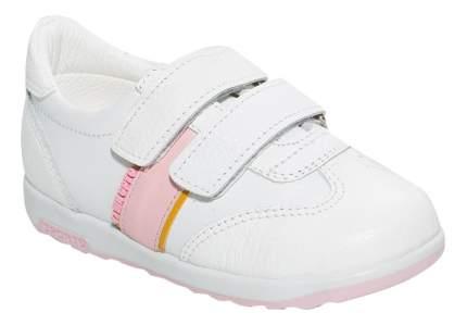 Кроссовки детские Таши Орто с логотипом бело-розовые р.25
