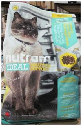 Сухой корм для кошек Nutram Sensitive, для чувствительных, домашняя птица, лосось, 6,8кг