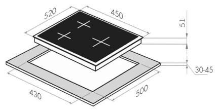 Встраиваемая варочная панель газовая MAUNFELD EGHE.43.33CB/G Black