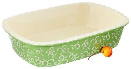 Форма керамическая ТМ Appetite прямоугольная 30х22х7,5 см Зеленый