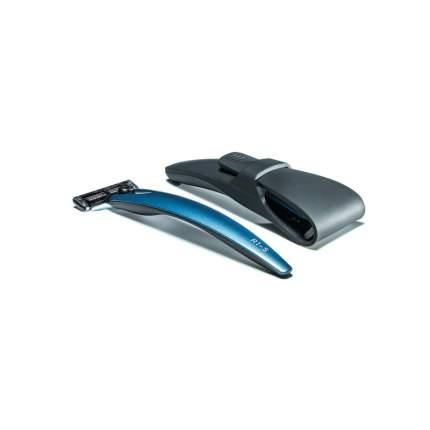 Подарочный набор Bolin Webb бритва R1-S синяя + дорожный чехол