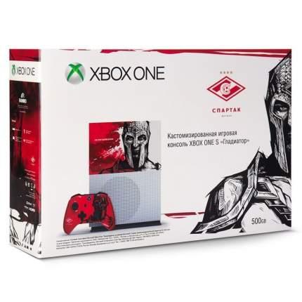"""Игровая приставка Microsoft Xbox One S 500 Gb """"Спартак. Гладиатор"""""""