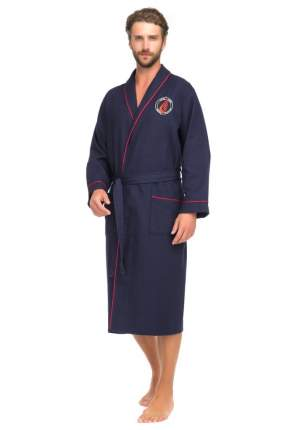 Бамбуковый вафельный халат Suprême 415 (мужской) 415/синий/L