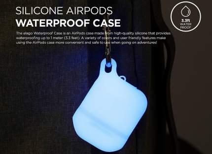 Чехол Elago Waterproof Hang Case для AirPods (Nightglow Blue)