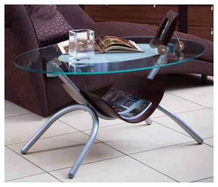 Журнальный стол Мебелик 50х110х70 см, серебристый