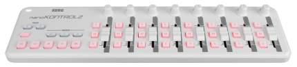 Портативный USB-MIDI-контроллер Korg Nanokontrol2-WH