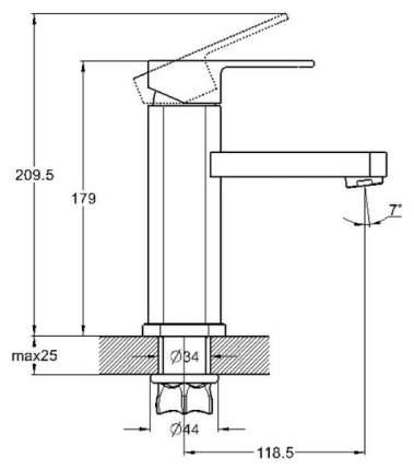 Смеситель для раковины G.lauf NEB1-A123