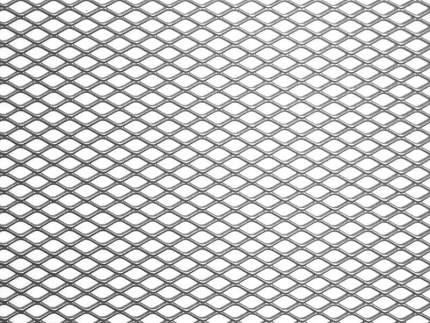 Сетка в бампер автомобиля Dollex 120х20см,Серебро,Алюминий,ячейки 10х5,5мм,DKS-125